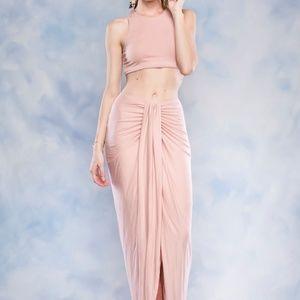 126809dd1b0a3b Dresses   Skirts - Maxi Asymmetrical Wrap Skirt And Crop Top Set